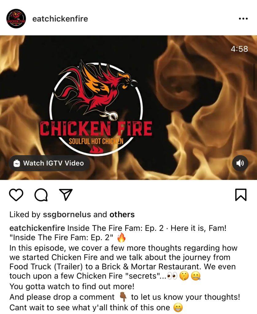 Orlando small business: Chicken Fire